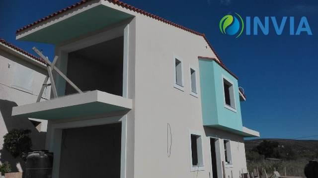 Τελική όψη μεταλλικής κατοικίας με σιλικονούχο χρωματιστό σοβά